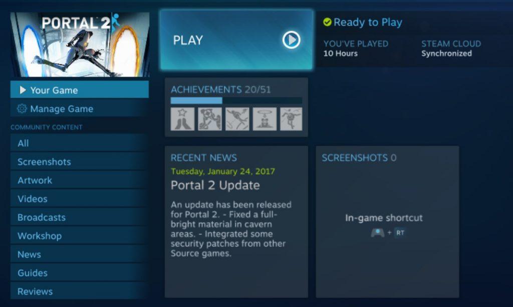 Portal 2 Game Launch
