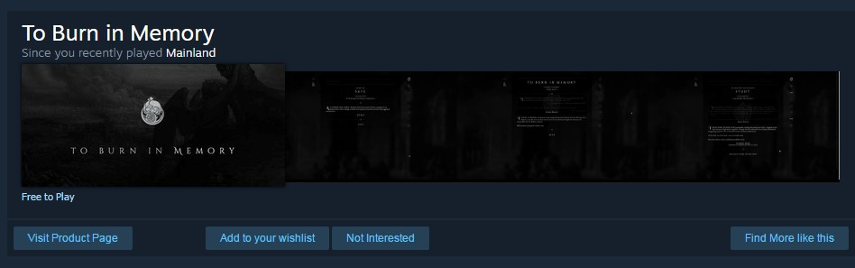 Steam Store Recommendation