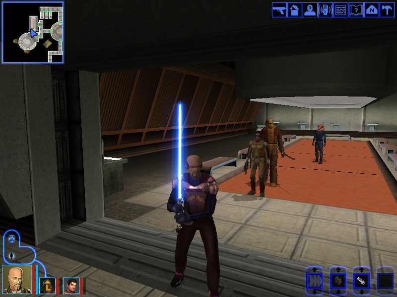 Player Holding a Lightsaber